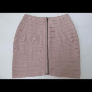 Silence + Noise / Urban Outfitters bandage pale rose skirt
